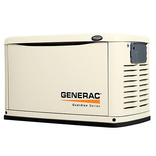 17,000-Watt Automatic Standby Generator with 100-Amp 16 Circuit Transfer Switch