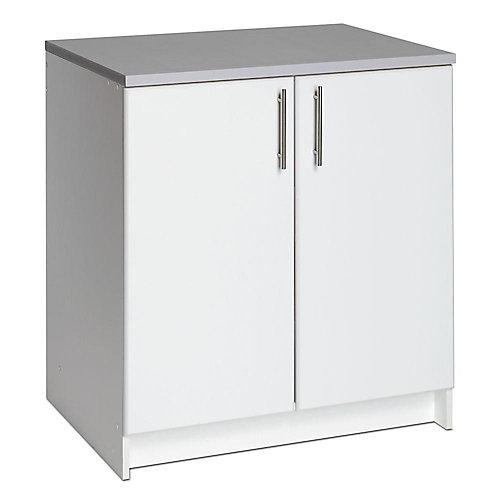 Elite 32-inch Wood Laminate Cabinet in White