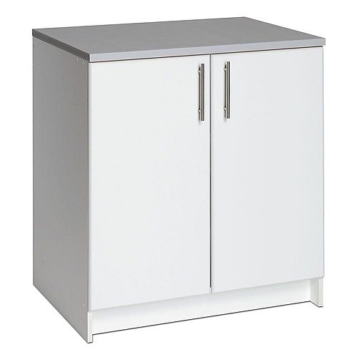 Elite 32-inch Wood Laminate Cabinet in White