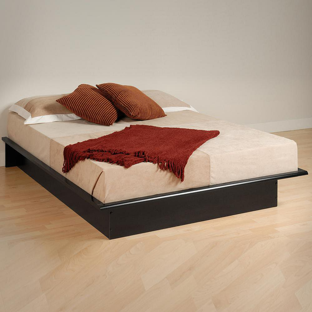 Prepac Black Full Platform Bed