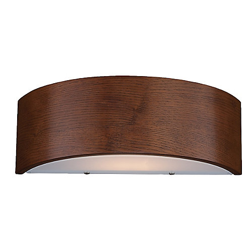 Dervish 1-Light Mahogany Curved Sconce