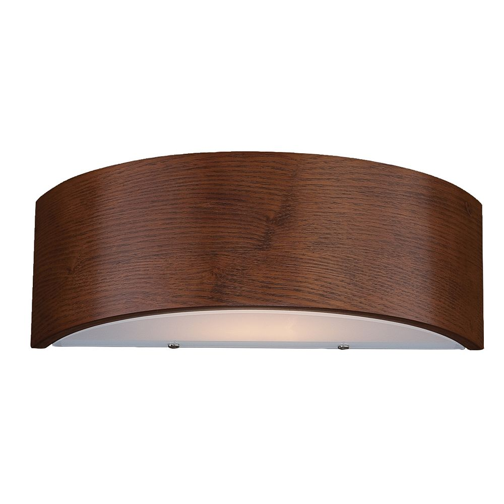 Hampton Bay Dervish 1-Light Mahogany Curved Sconce