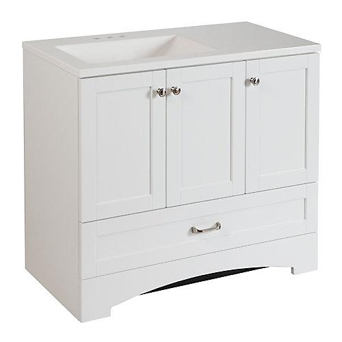 Lancaster 36.30-inch W Vanity in White