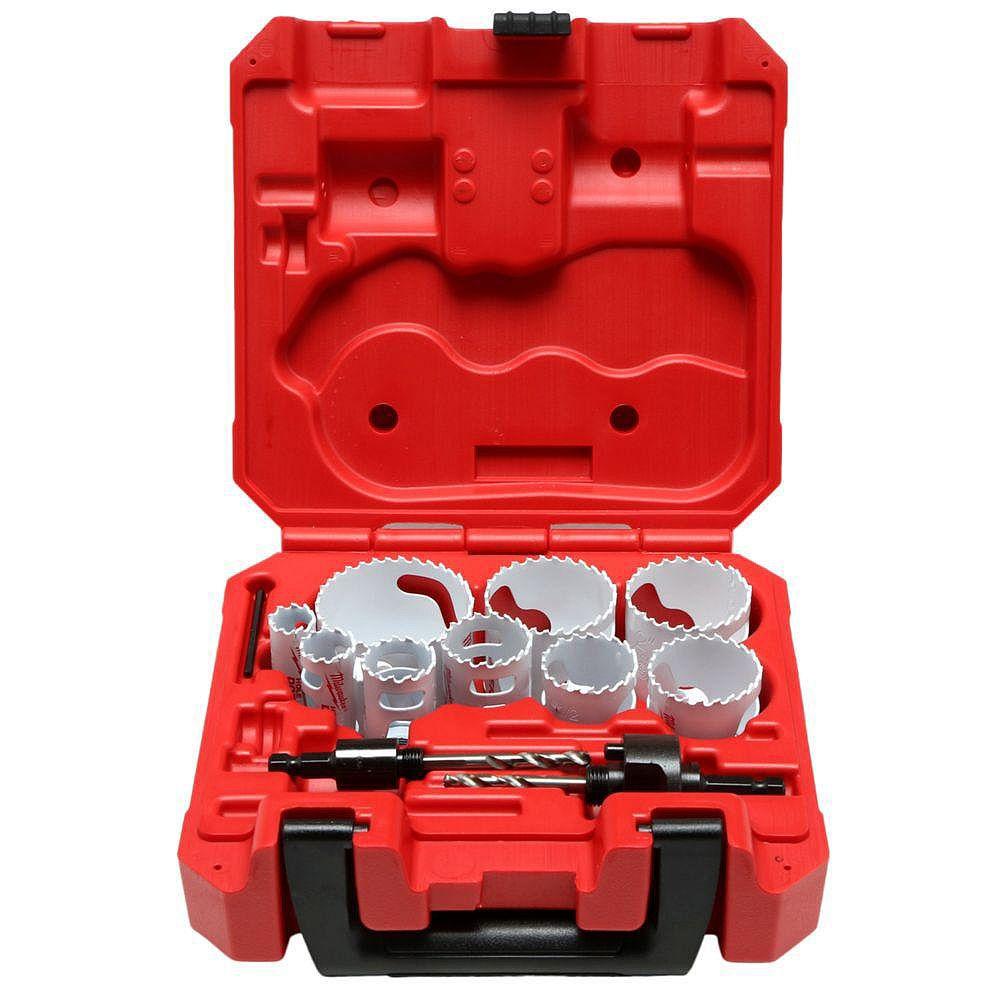 Milwaukee Tool 13-Piece General Purpose Ice Hardened Hole Saw Kit