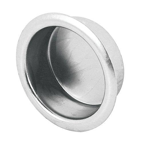 Prime-Line Coquille de porte coulissante de garde-robe de 3/4 po., fini de nickel satiné, emballage de 4