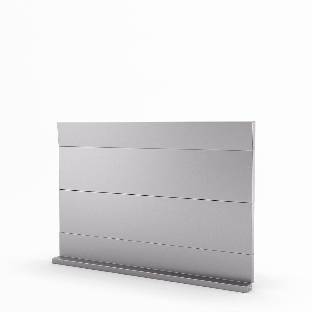 Inoxia Backsplashes Urbania 30-inch Real Stainless Steel Backsplash