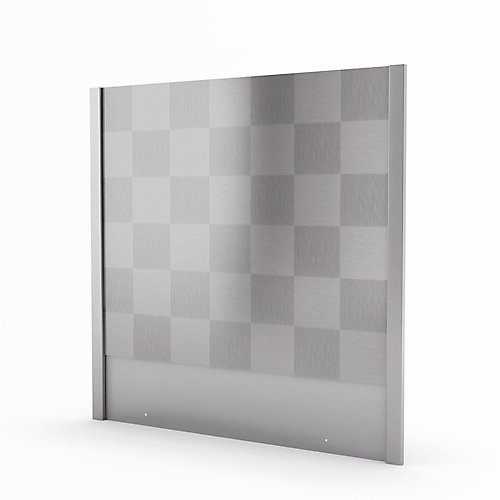 Cube 30-inch Real Stainless Steel Backsplash