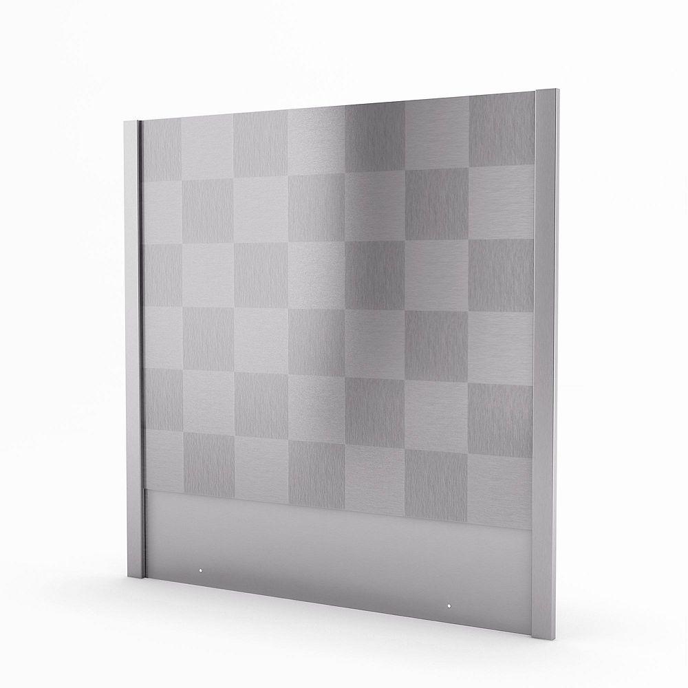 Inoxia Backsplashes Cube Dosseret Fait D'acier Inoxydable Véritable De 30 Pouces