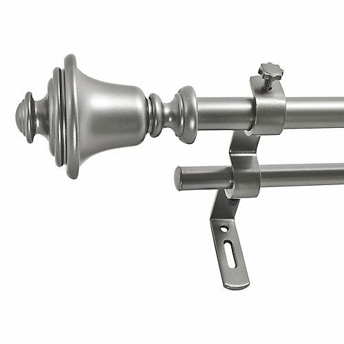 86-128 Inch 5/8 Inch Bell Double Rod Set In Dark Nickel Finish