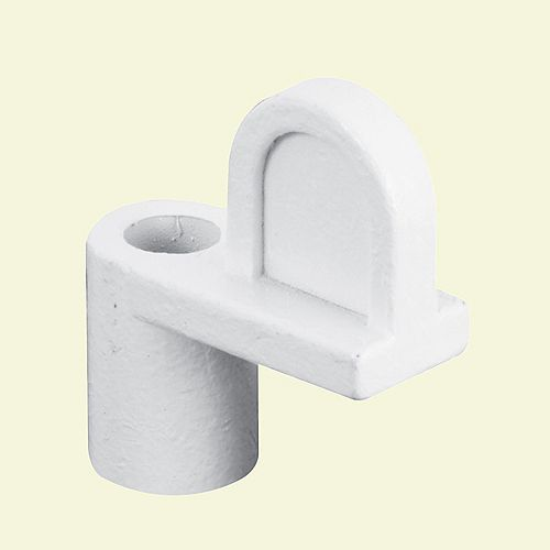 Window Clips, 3/8-inch, White Diecast with 1-inch Sheet Metal Screw