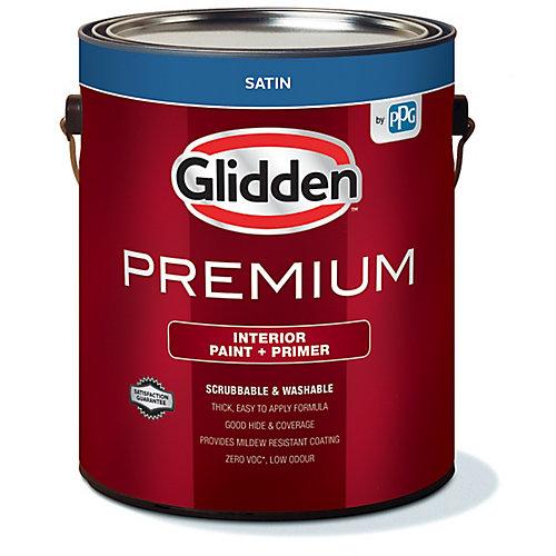 Premium Interior Paint + Primer Satin White 3.7 L