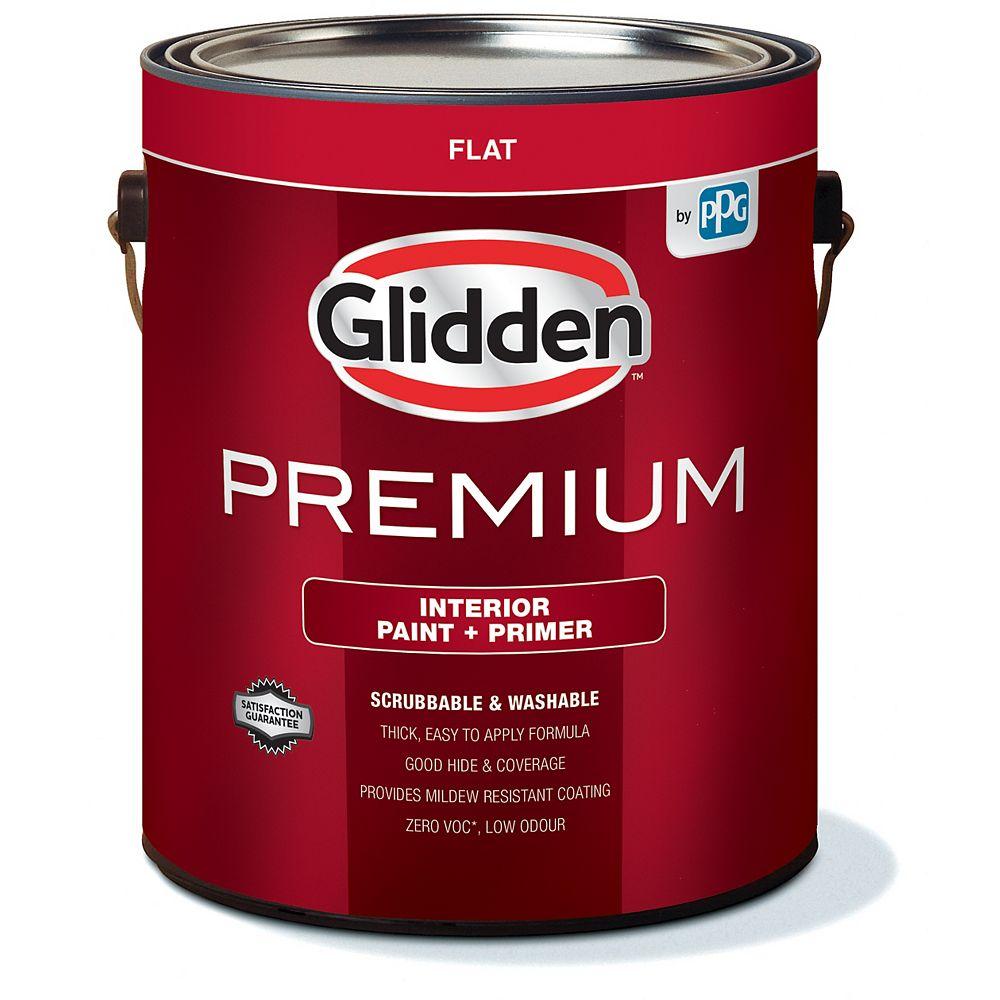 Glidden Premium Peinture et Apprêt d'intérieur mat  - Blanc 3,7 L