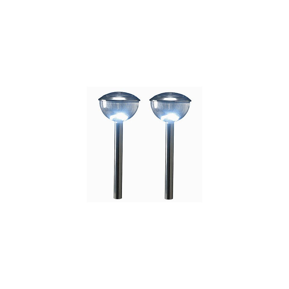 HomeBrite Solar Dome Stainless Steel Dome Ligh Twith All New 3 Way Diffusion System (2-Pack)