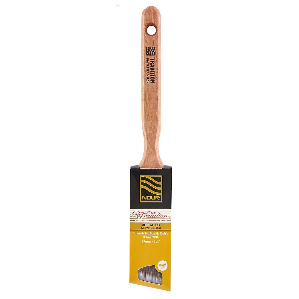 Nour Tradition Pinceau Angulaire Poly/Nylon de 1 ½ po