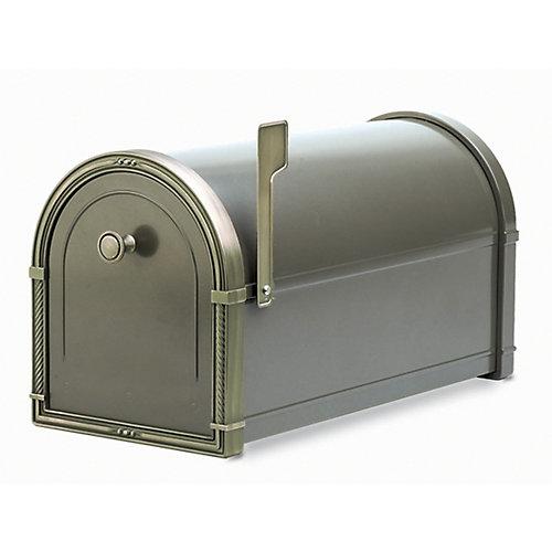 Boîte aux lettres Coronado bronze avec ornementations en bronze patiné, à montage sur piédestal