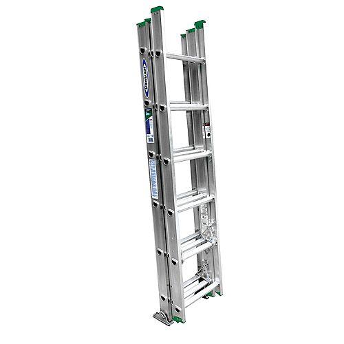 Échelle de 16 pi en aluminium à 3 petites sections pouvant supporter 225 livres. (Catégorie d'usage: Type II)