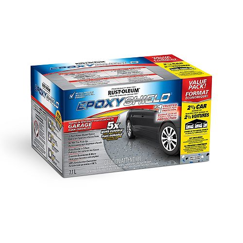 Garage Floor Coating In Gloss Grey, 7.1 L (covers up to 500 Sq. Ft.)
