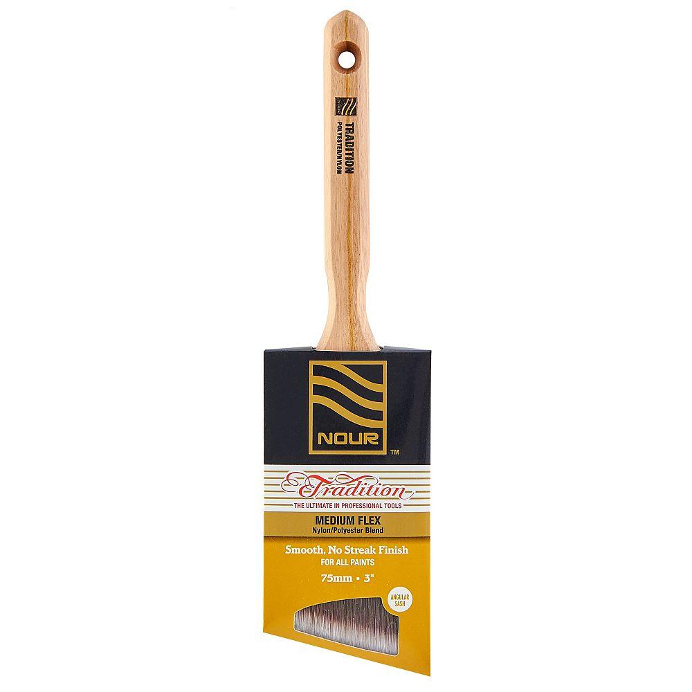 Nour Tradition 3 inch  Poly/Nylon Angular Brush