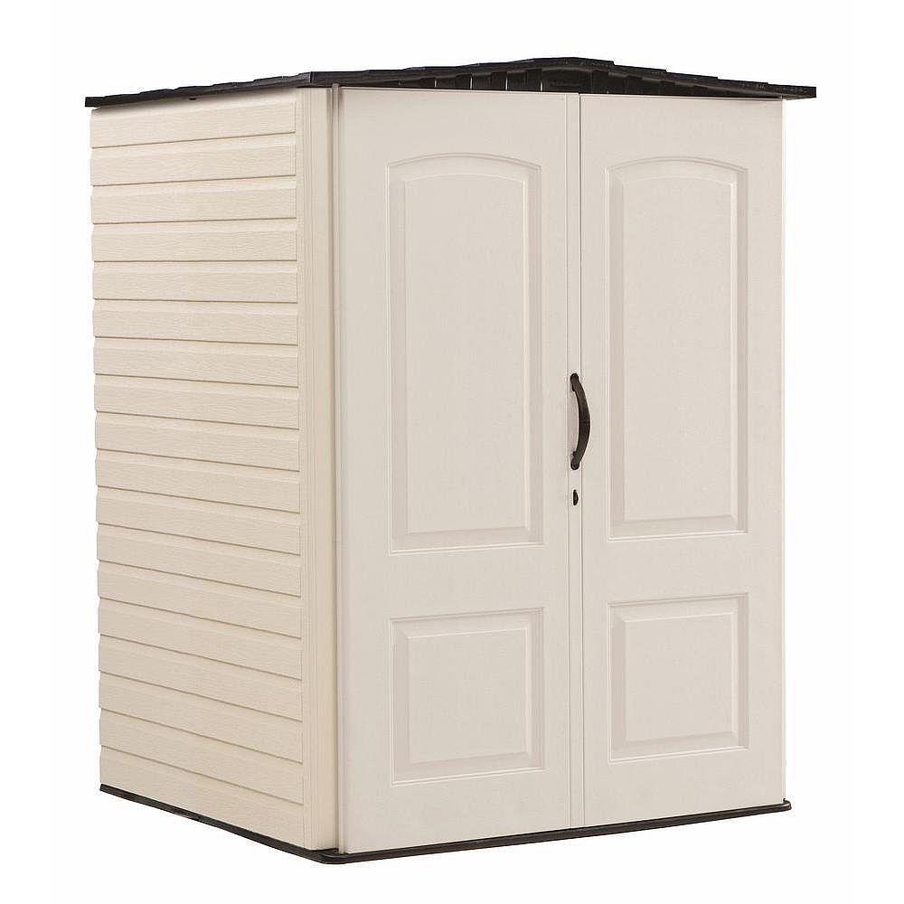 Rubbermaid 4 ft. 4-inch x 4 ft. 8-inch Medium Vertical Plastic Shed