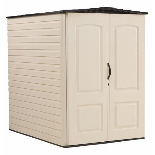 6 ft. 3-inch x 4 ft. 8-inch Large Vertical Plastic Shed