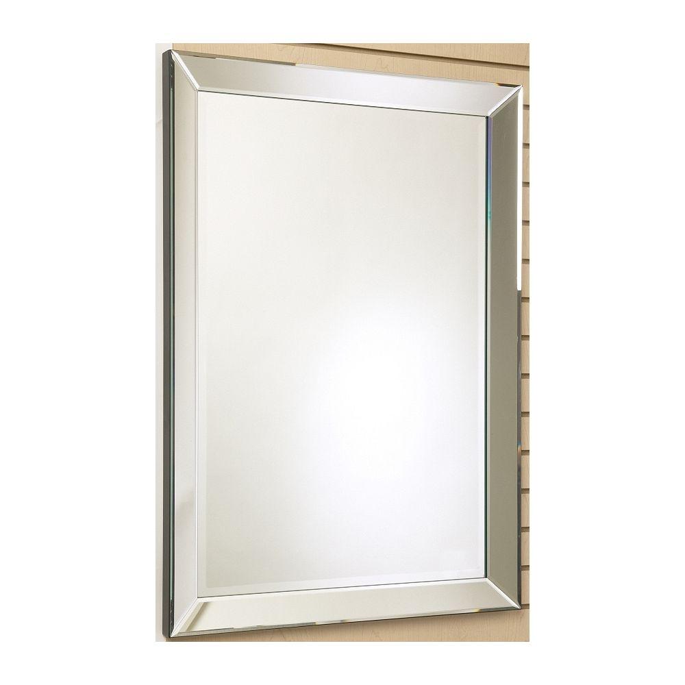 The Tangerine Mirror Company Miroir Royal, cadre décoratif fini miroir - 24 po x 30 po