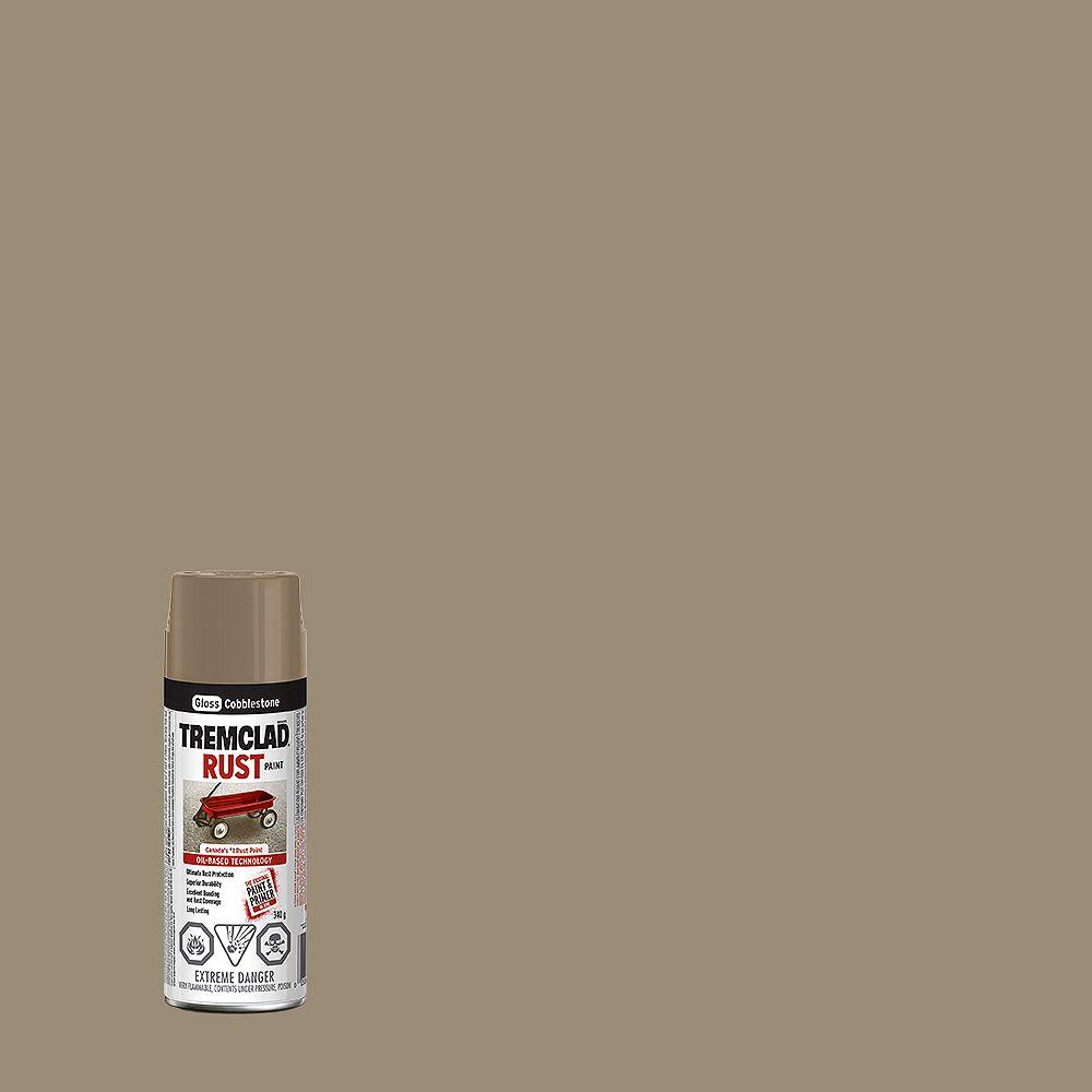 TREMCLAD Oil-Based Rust Paint In Gloss Cobblestone, 340 G Aerosol Spray Paint
