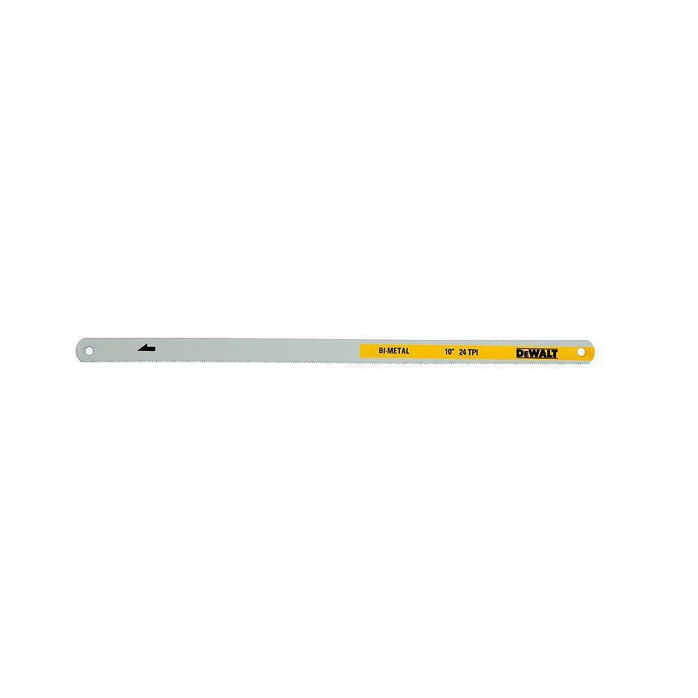DEWALT 10-inch 24-TPI Bi-Metal Hacksaw Blade (2-Pack)