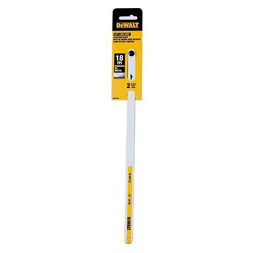 DEWALT 12-inch 18-TPI Bi-Metal Hacksaw Blade (2-Pack)