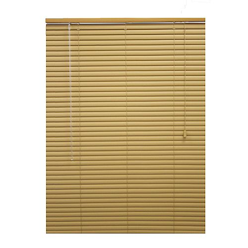 Hampton Bay 72x48 Khaki 1 3/8 in. Premium Vinyl Blind (Actual width 71.5 in.)