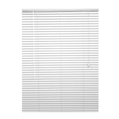 Hampton Bay Store en vinyle haut de gamme, 411/2po x 72po, largeur des lamelles: 13/8po, blanc