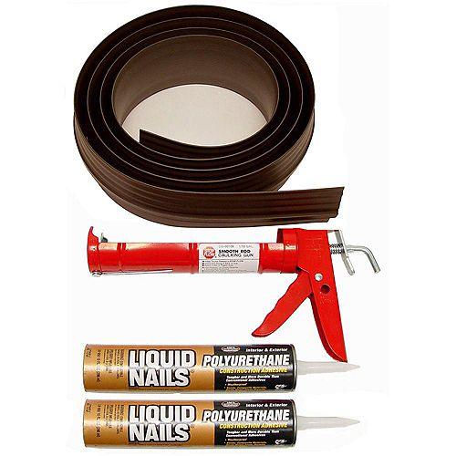 Trousse pour seuil de porte de garage de 18pi, brun