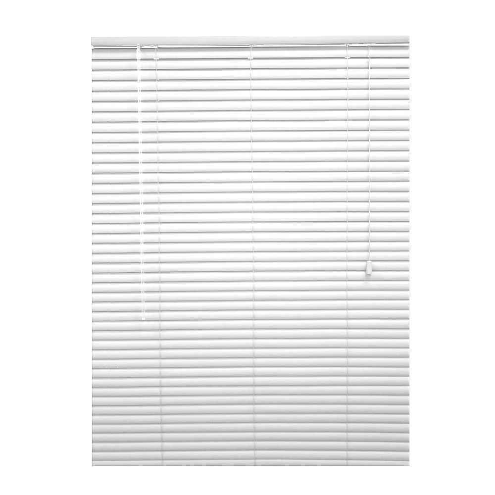 Hampton Bay 1 3/8-inch Premium Vinyl Blinds in White - 47.5-inch x 72-inch