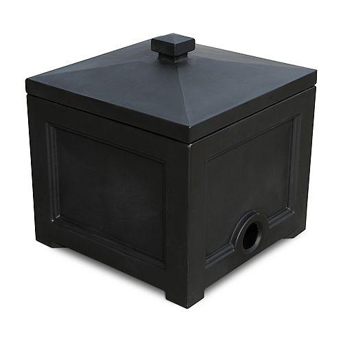 Fairfield Garden Hose Bin in Black