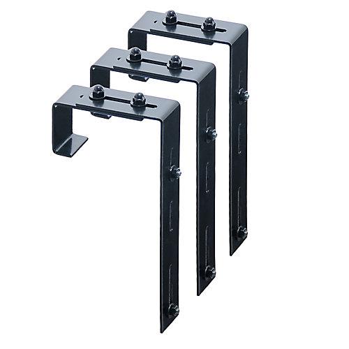 Window Box Deck Rail Steel Brackets (3-Pack)