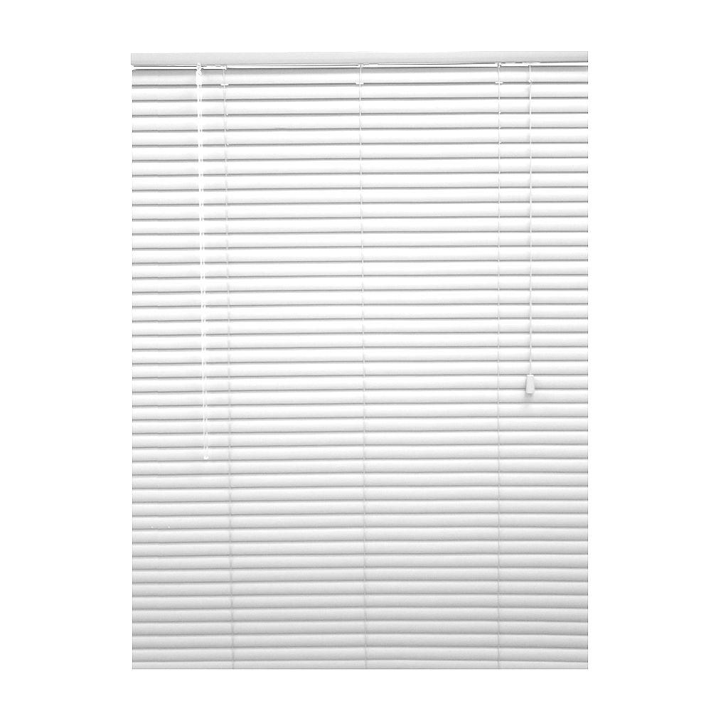 Hampton Bay 1 3/8-inch Premium Vinyl Blinds in White - 65.5-inch x 72-inch