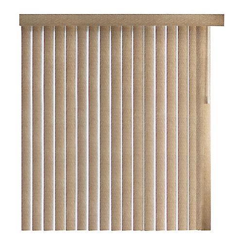 84 Inch Hatch Hazelnut 4.5 Inch Embossed Vertical Blind Louvers (Actual length 82.5 Inch)