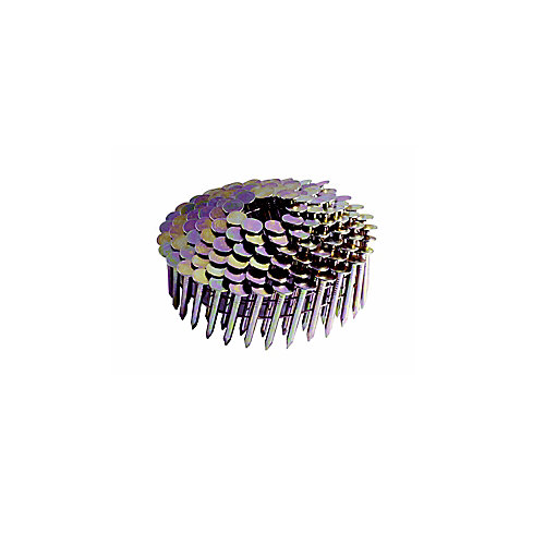 1-1/4-inch x .120. Coil Roofing Nail. GALV Smooth Shank. 7,200-Count