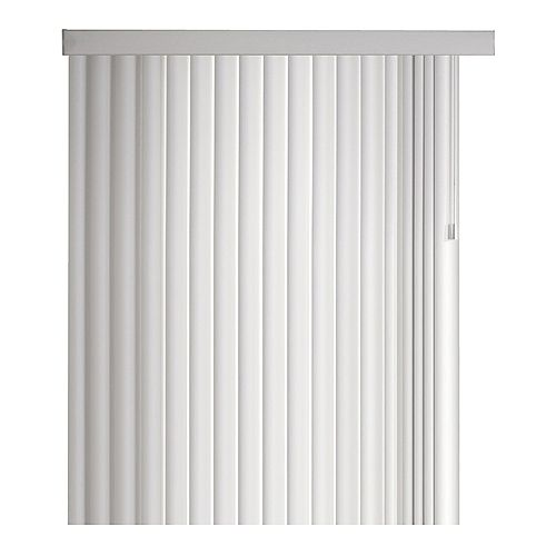Ensemble de store vertical couronné de 11,4 cm (4 ½ po), Blanc, 264cmx213cm (Largeur réelle 264cm)