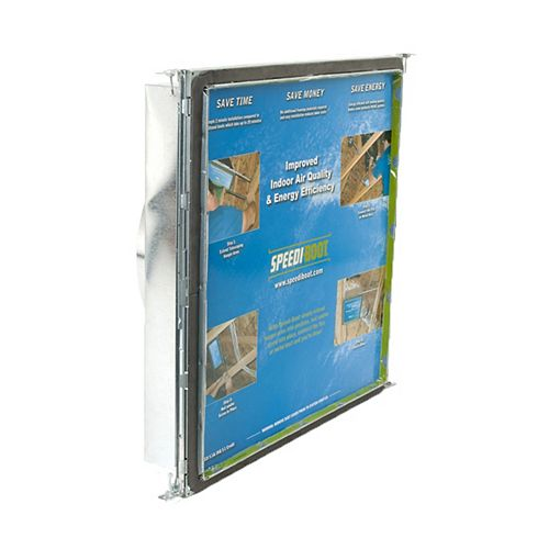 Speedi-Boot 16 in. x 16 in. x 14 in. Square to Round Adaptor Register Vent Boot with Adj. Hangers for HVAC Duct Work