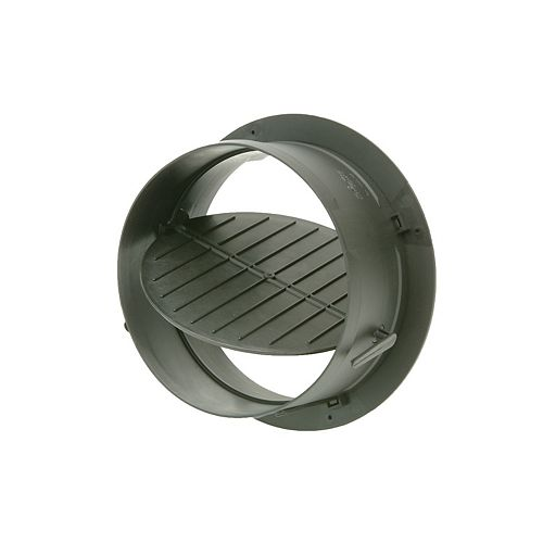 8-inch HVAC Connection Collar with Damper