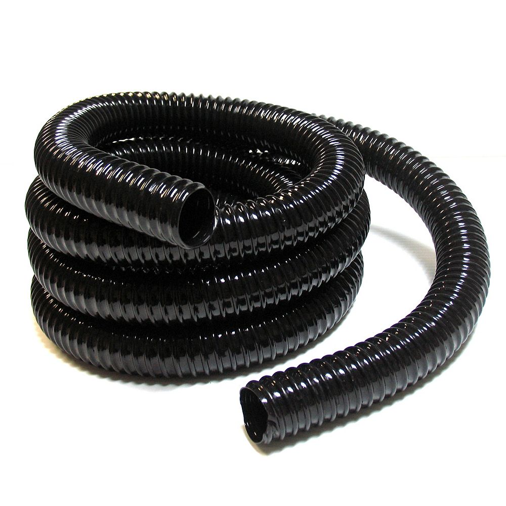 "Angelo Décor 15 Foot Length of 1.5-inch (Inside Diameter) ""Non-Kink"" Reinforced Pond Tubing, Black"