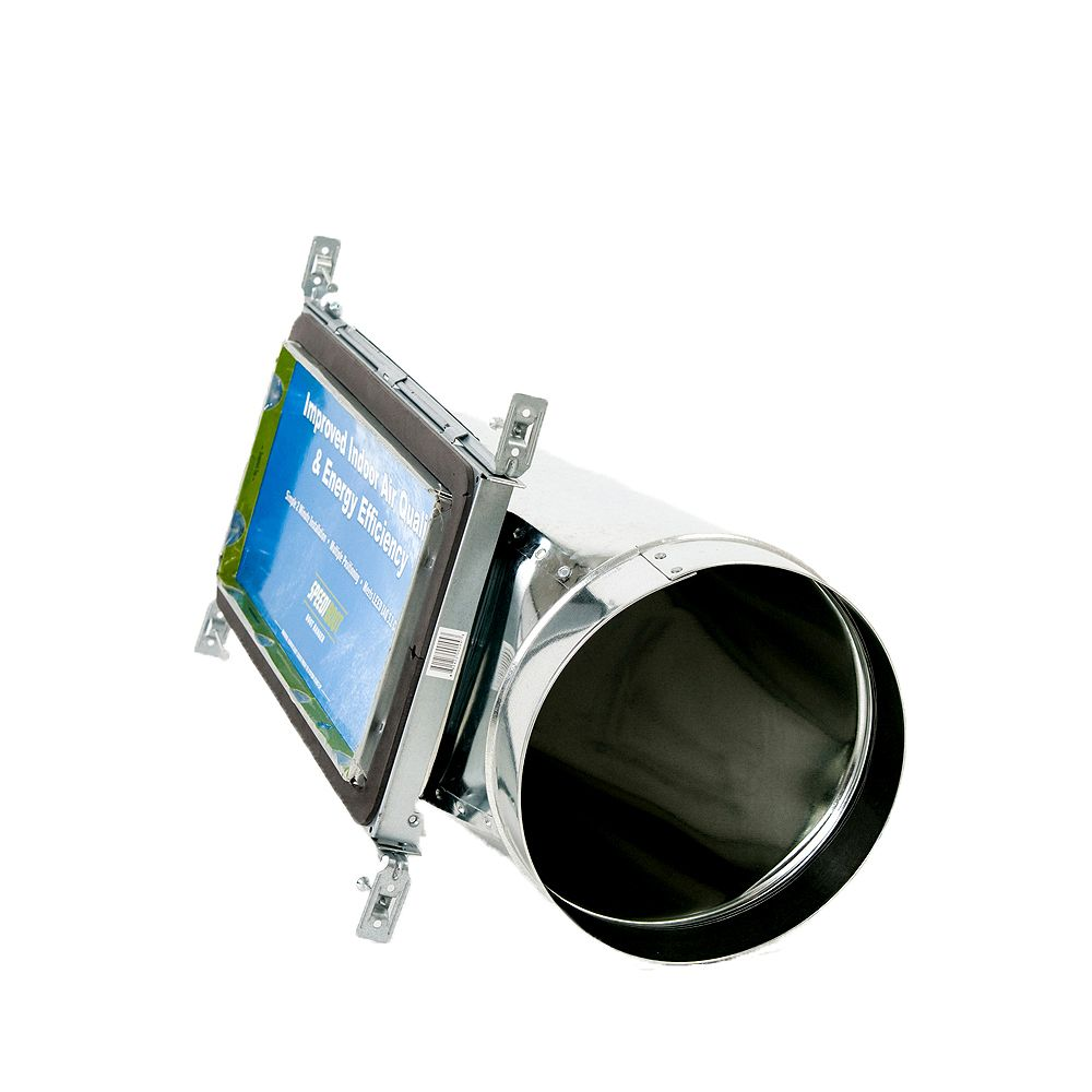 Speedi-Boot Bouche d'aération à registre et extrémité torpille avec fixations réglables pour conduit de CVCA 6 po x 14 po x 7 po