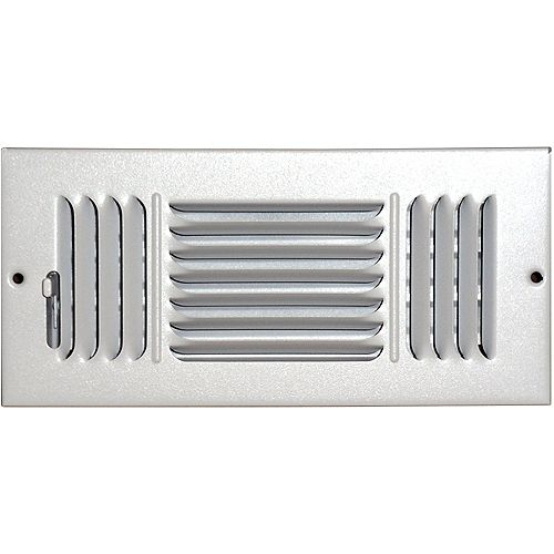4 in. x 8 in. Hands Free Ceiling or Wall Register Cover with 2 Way Deflection