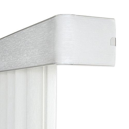 Rail supérieur de store vertical de 11,4cm (4 ½ po), Blanc, 198cm (Largeur réelle 198cm)