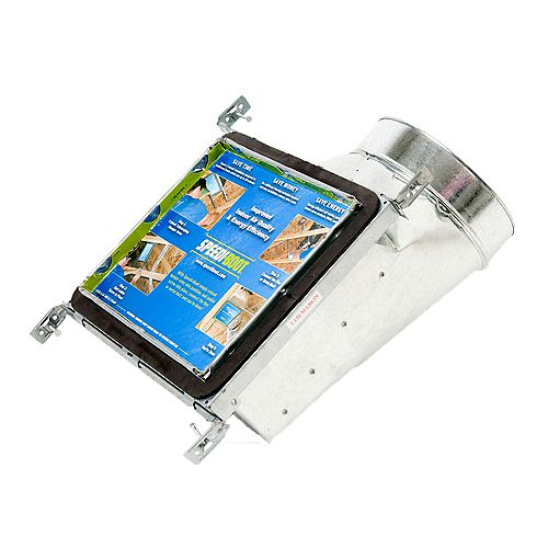 Bouche d'aération avec registre à 90 degrés et fixations réglables pour conduit de CVCA 8 po x 10 po x 6 po