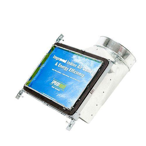 Speedi-Boot Bouche d'aération avec registre à 90 degrés et fixations réglables pour conduit de CVCA 8 po x 14 po x 7 po