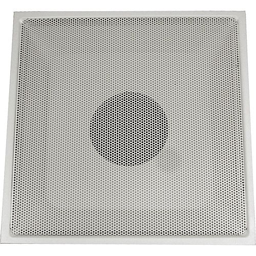 24 in. x 24 in. x 12 in. Collar White Drop Ceiling T-Bar Perforated Return Air Hinged Face Grille