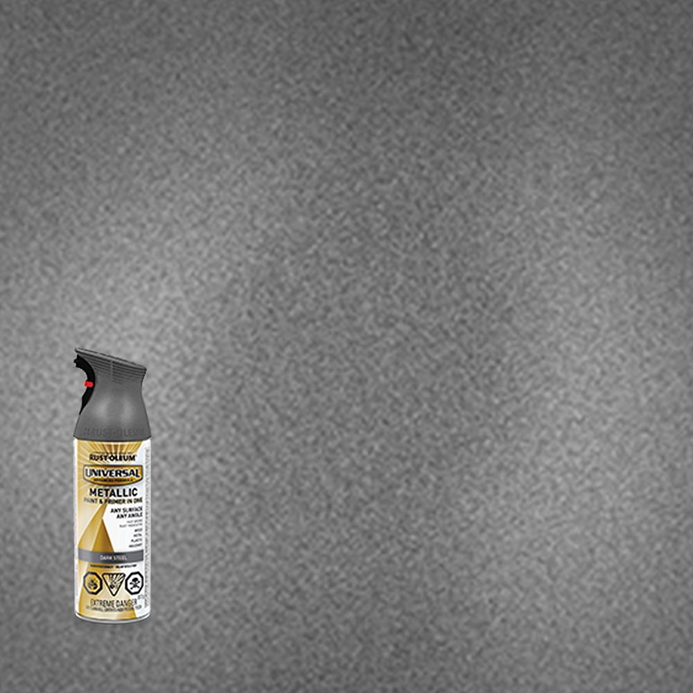 Rust-Oleum Universal Metallic Spray Paint in Dark Steel, 312 G Aerosol
