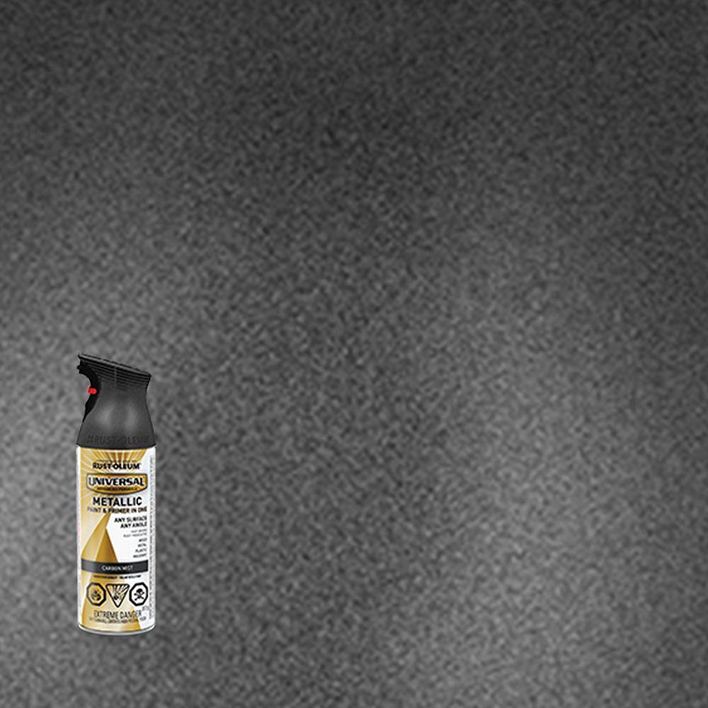 Rust-Oleum Universal Peinture À Vaporiser Métallique En Embrun De Carbone - 312 G Aerosol