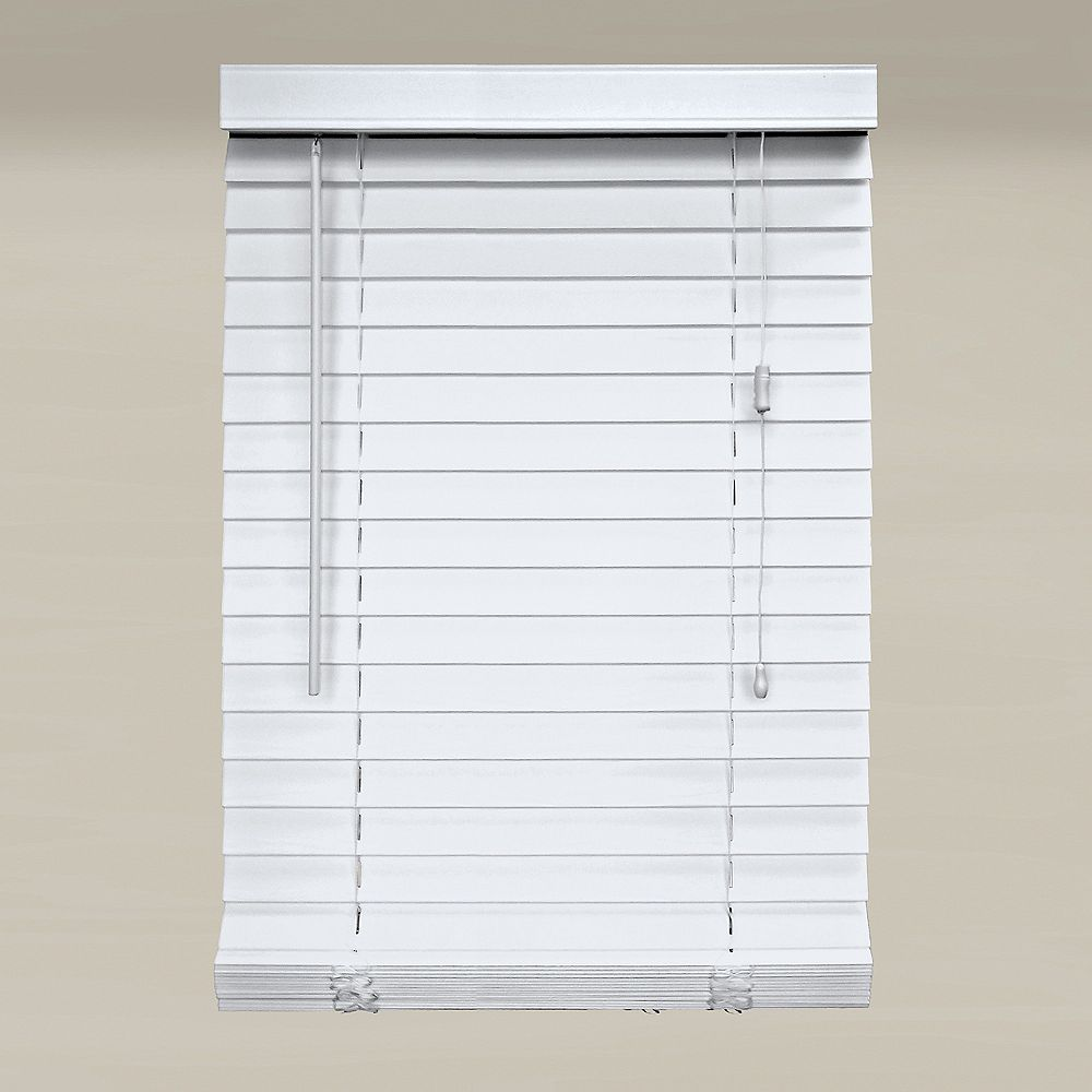Home Decorators Collection 2-inch Faux Wood Blind in White - 29.5-inch x 64-inch